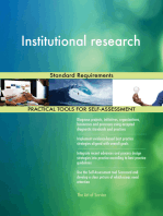 Institutional research Standard Requirements