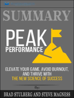 Summary of Peak Performance