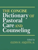The Concise Dictionary of Pastoral Care and Counseling