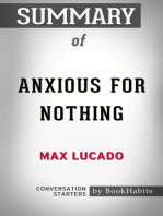 Summary of Anxious for Nothing by Max Lucado | Conversation Starters
