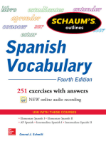 Schaum's Outline of Spanish Vocabulary, 4th Edition