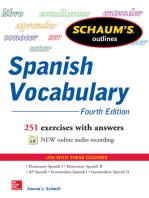 Schaum's Outline of Spanish Vocabulary 4E EBOOK