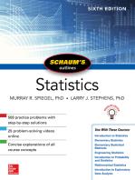 Schaum's Outline of Statistics, Sixth Edition