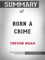 Summary of Born a Crime by Trevor Noah | Conversation Starters