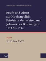 Briefe und Akten zur Kirchenpolitik Friedrichs des Weisen und Johanns des Beständigen 1513 bis 1532. Reformation im Kontext frühneuzeitlicher Staatswerdung