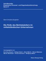 Die Rolle des Betriebsleiters im mittelständischen Unternehmen