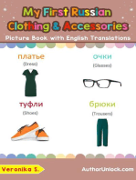 My First Russian Clothing & Accessories Picture Book with English Translations