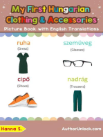 My First Hungarian Clothing & Accessories Picture Book with English Translations