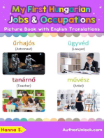 My First Hungarian Jobs and Occupations Picture Book with English Translations