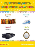My First Hungarian Things Around Me at Home Picture Book with English Translations