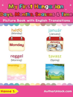 My First Hungarian Days, Months, Seasons & Time Picture Book with English Translations