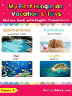 My First Hungarian Vacation & Toys Picture Book with English Translations