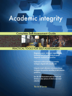 Academic integrity Complete Self-Assessment Guide