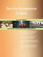 Service Acceptance Criteria Second Edition