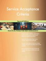 Service Acceptance Criteria Second Edition