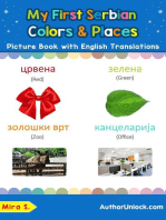 My First Serbian Colors & Places Picture Book with English Translations