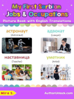 My First Serbian Jobs and Occupations Picture Book with English Translations