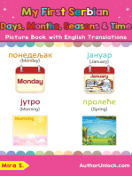 My First Serbian Days, Months, Seasons & Time Picture Book with English Translations