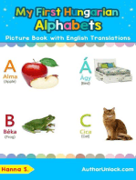 My First Hungarian Alphabets Picture Book with English Translations