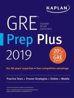 GRE Prep Plus 2019: Practice Tests + Proven Strategies + Online + Video + Mobile