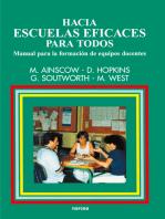 Hacia escuelas eficaces para todos: Manual para la formación de equipos docentes