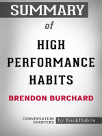 Summary of High Performance Habits by Brendon Burchard | Conversation Starters