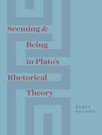 Seeming and Being in Plato's Rhetorical Theory