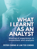 What I Learnt as an Analyst: Sharing of Experience in Investment and Analysis