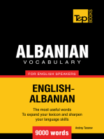 Albanian vocabulary for English speakers: 9000 words