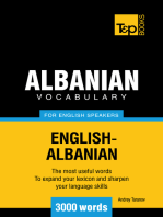 Albanian vocabulary for English speakers: 3000 words