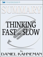 Summary of Thinking, Fast and Slow: by Daniel Kahneman and Cass R. Sunstein
