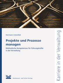 Projekte und Prozesse managen: Methodische Kompetenzen für Führungskräfte in der Verwaltung