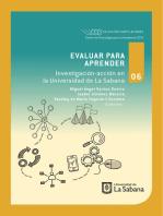 Evaluar para aprender: Investigación-acción en la Universidad de La Sabana
