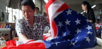 Raising the American Flag Made in China
