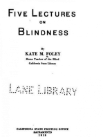 Five Lectures on Blindness