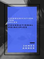 Communication For Sales: Foundational Principles