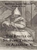 The Epistle of St. Pope Theonas of Alexandria