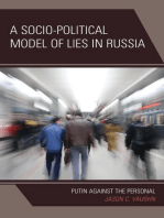 A Socio-Political Model of Lies in Russia