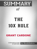 Summary of The 10X Rule by Grant Cardone | Conversation Starters