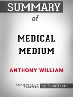 Summary of Medical Medium by Anthony William | Conversation Starters