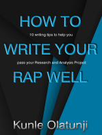 How to Write Your RAP Well