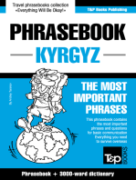 English-Kyrgyz Phrasebook and 3000-word Topical Dictionary