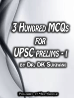 3 Hundred MCQs for UPSC Prelims: I