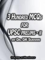 3 Hundred MCQs for UPSC Prelims: II