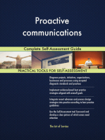 Proactive communications Complete Self-Assessment Guide