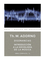 Disonancias / Introducción a la sociología de la música: Obra completa, 14