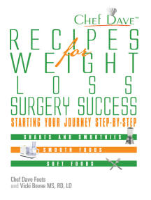 Recipes for Weight Loss Surgery Success: Starting Your Journey Step-By-Step