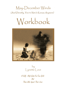 May-December Winds: (And Dorothy, You're Not in Kansas Anymore) Workbook