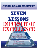 Seven Lessons in Pursuit of Excellence