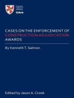 Cases on the Enforcement of Construction Adjudication Awards
